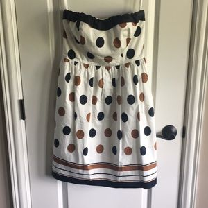 Fun Strapless Polka Dot Dress by The Limited